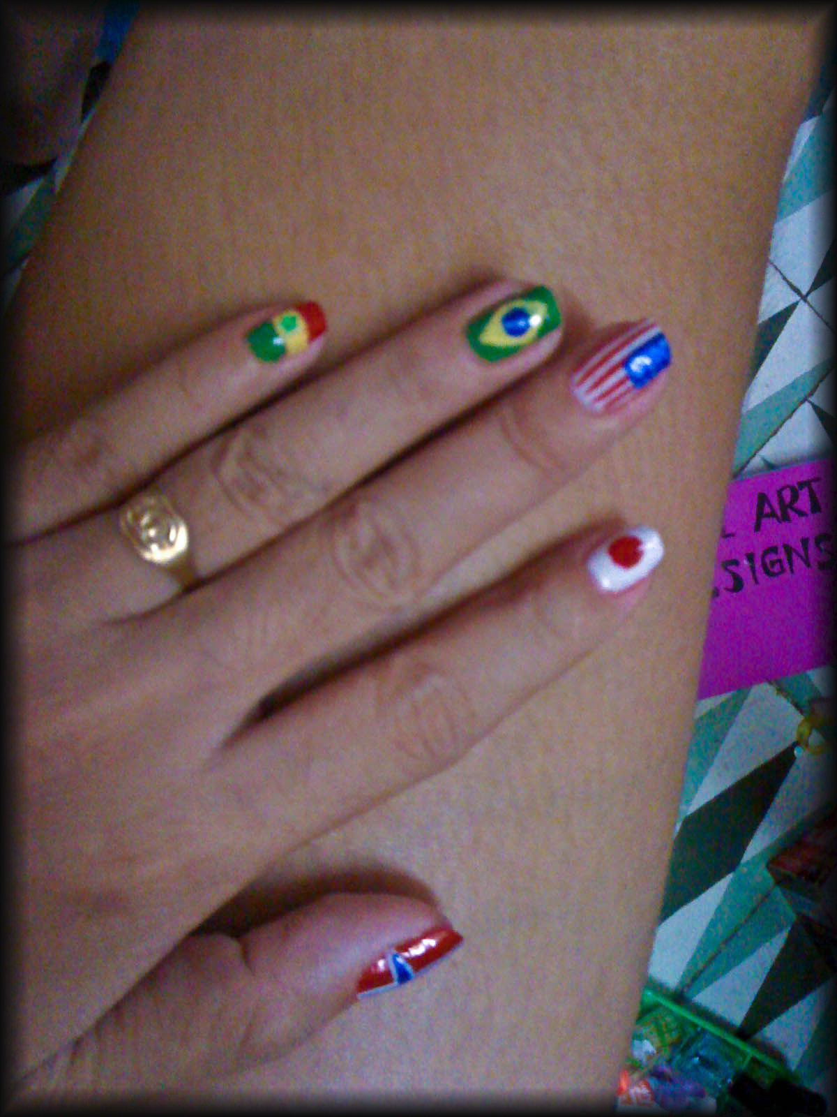 flags nail art – MISHA ADARA